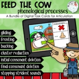 Feed the Cow: Phonological Process Boom Card Distance Lear