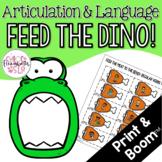 Feed the Dinosaur Articulation & Language! Digital & Print!