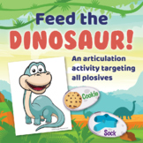 Feed the Dinosaur Initial /d/! - Early Articulation Activity