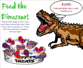 Feed the Dinosaur! Short Vowel Sounds
