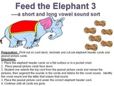 Feed the Elephant 3 - a long and short vowel sort