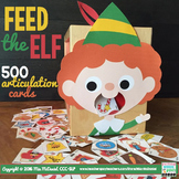 Feed the Elf Speech Therapy Activity   500 Christmas Artic