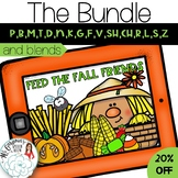 Feed the Fall Friends: Articulation Boom Card Activity for