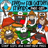 Feed the Fall Garden Friends GIF and PNG Clip Art Set