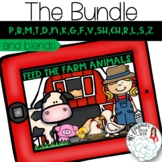 Feed the Farm Animals: Articulation Boom Card Activity for