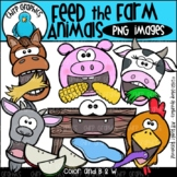 Feed the Farm Animals PNG Clip Art Set