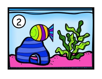 Feed the Fish Play Dough Mats Numbers 1-20