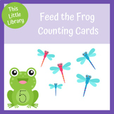 Feed the Frog Counting Cards - PreK and Kindergarten Pond Theme