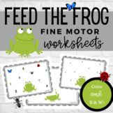 Feed the Frog Fine Motor Worksheets