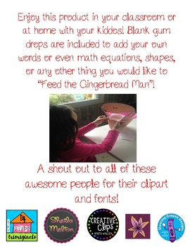 Feed the Gingerbread Man - Sight Word Activity!