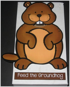 Feed the Groundhog Cut-Out Activity
