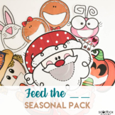 Feed the Holiday Characters - Activity for Preschoolers