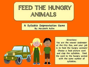 Feed the Hungry Animals - A Syllable Segmentation Game Common Core Aligned