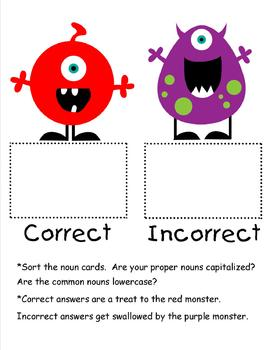 Feed the Hungry Monster:  Common and Proper Nouns
