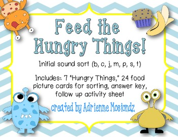 Feed the Hungry Things! {Initial Sound Sort}