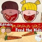Feed the Kids: Pronoun Sorting Activity
