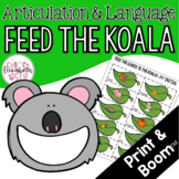 Feed the Koala Articulation and Language! Digital & Print!