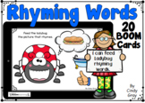 Feed the Ladybug Rhyming Words ~ BOOM Cards ~ Distance Learning