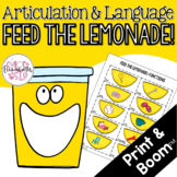 Feed the Lemonade Articulation and Language! Digital & Print!