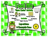 Feed the Leprechaun Activity Set - Letters Numbers Shapes