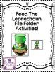 Feed the Leprechaun File Folder: Great for ABA, following