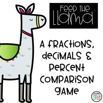 Feed the Llama: A Fractions, Decimals & Percent Comparison Game