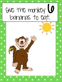 Feed the Monkey: Play Dough Mats