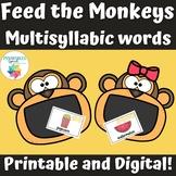 Feed the Monkeys Multisyllabic Words Food Vocabulary Speec