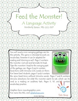 Feed the Monster! A Language Activity