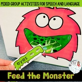 Feed the Monster Activities for Mixed Speech and Language Groups!