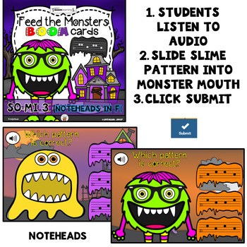 Feed the Monster Boom Cards - Solfege (So & Mi Bundle) - Digital Task Cards