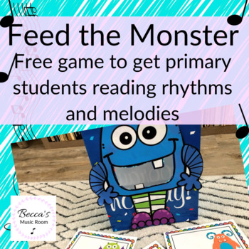 Feed the Monster Game for Reading Rhythm or Solfege Patterns