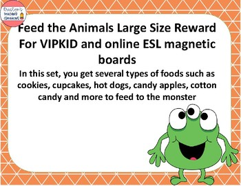 Feed the Monster Large Size Reward for VIPKID and online ESL FREEBIE