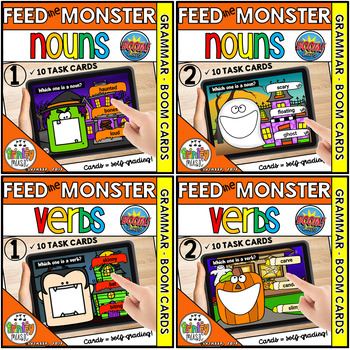 Feed the Monster (Nouns, Verbs and Adjectives)