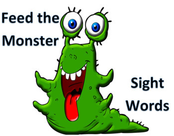 Feed the Monster Sight Words - Centers - VIPKID Level 2 Interactive Reward
