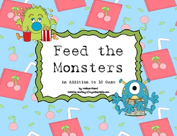 Feed the Monsters- An Addition Game to 9.