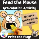 Feed the Mouse Print and Play Articulation Activity Speech