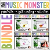 Feed the Music Monster Printable Sight-Reading and Ear Tra