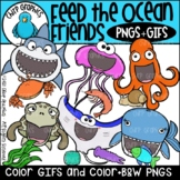 Feed the Ocean Friends PNG and GIF Clip Art Set - Chirp Graphics