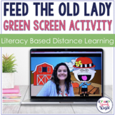 Feed the Old Lady Green Screen Activities for Speech Therapy