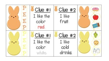 Feed the PEEPS! Inference, Category, Sorting Activities