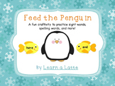 Feed the Penguin Craftivity (Letters, Sight Words, and More)