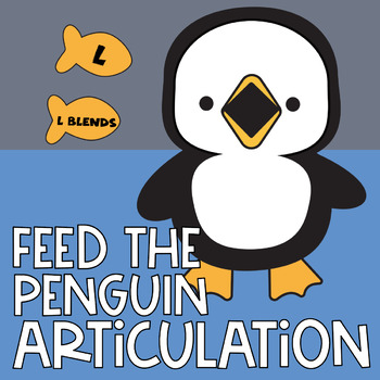 Feed the Penguin L and L Blends Boom Cards | Articulation | Speech Therapy