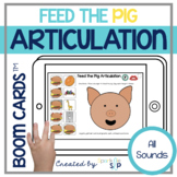 Feed the Pig Articulation Boom Cards™️ for Speech Therapy
