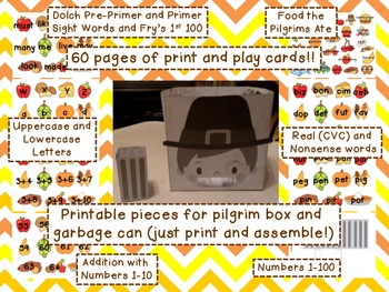 Feed the Pilgrim: Math and Literacy Thanksgiving Center