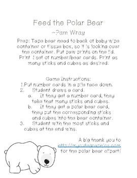 Feed the Polar Bear (Teen Number Game)