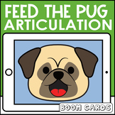 Feed the Pug Articulation Boom Cards | Speech Therapy plus