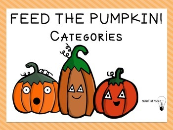 Feed the Pumpkin.. Categories!