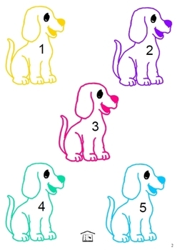 Feed the Puppies early math play set
