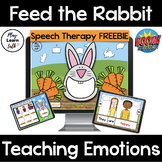 Feed the Rabbit - Boom Card Deck - Distance Learning - Tele therapy - Emotions